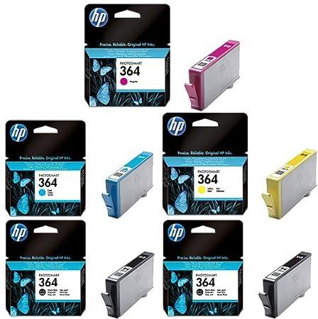 Cartouches pour hP photosmart plus de 5 cartouches d'encre noir photo noir, c, m, y) photosmart plus cartouches d'encre