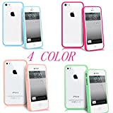 NEW BABY CLEAR HARD BACK SILICON TPU BUMPER COVER CASE FOR iPHONE 4 4G FREE SCREEN GUARD (IPHONE 4, 4 colour)