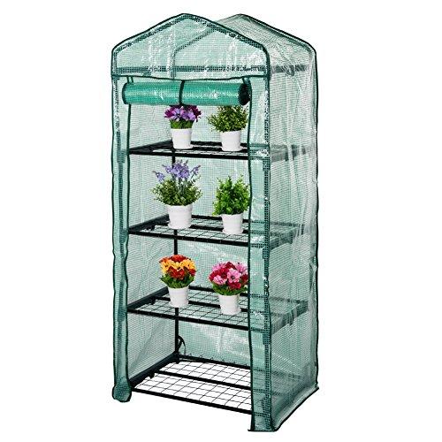 Prime Garden Portable Mini Greenhouse, 100% Waterproof Reinforced Garden 4-Tier Size: 27? Longx...
