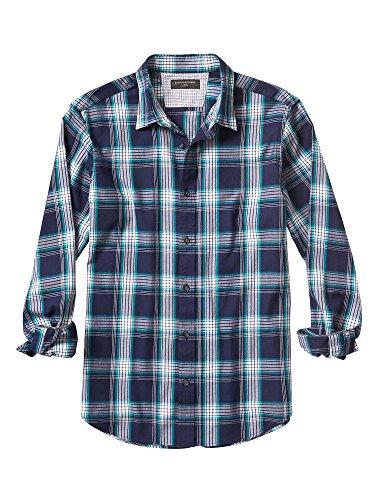 banana-republic-mens-slim-fit-plaid-knit-long-sleece-alpha-shirt-teal-medium
