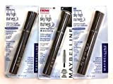 3 x Maybelline Sky High Curves Brownish Black - 402