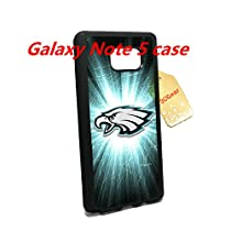 Stylish Samsung Galaxy Note 5 Case Cover for Philadelphia Eagles Fan--with Tempered Glass Screen Protector