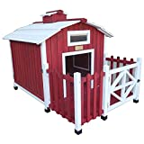 【アメリカADVANTEK】犬小屋 アメリカアドバンテック テラス付きドッグハウス ザ・カントリーバーンドッグハウス【大型犬向き】