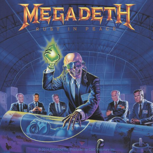 Licenses Products Megadeth Alien Sticker