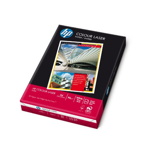 HP Color Laser Paper 90 gsm-500 sht/A4/210 x 297 mm - Papel (Mate, Color blanco, 90 g/m², 2,81 kg, 20 - 80%, 15 - 35 °C)