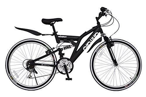 ANIMATO(アニマート) マウンテンバイク SANDPIPER(サンドパイパー) 26インチ マットブラック SHIMANO18段変速【軽量アルミフレーム】