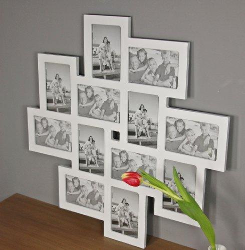 elbm bel bilderrahmen fotorahmen collage gro in wei aus holz f r die mehrfach fotowand. Black Bedroom Furniture Sets. Home Design Ideas