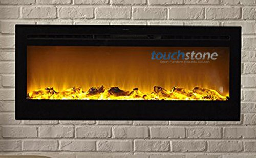Touchstone Sideline Recessed Electric Fireplace with heater