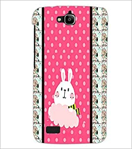PrintDhaba Bunny D-3821 Back Case Cover for HUAWEI HONOR HOLLY (Multi-Coloured)