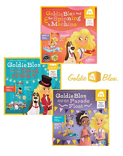 GoldieBlox Spinning Machine, Parade Float and Dunk Tank Building Sets