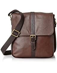 Fossil Leather Dark Brown Messenger Bag (MBG9151201)