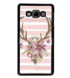 PrintDhaba Deer Pattern D-1456 Back Case Cover for SAMSUNG GALAXY A8 (Multi-Coloured)