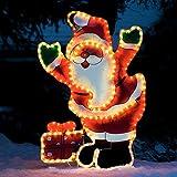 LED-Leucht-Weihnachtsmann Huggy