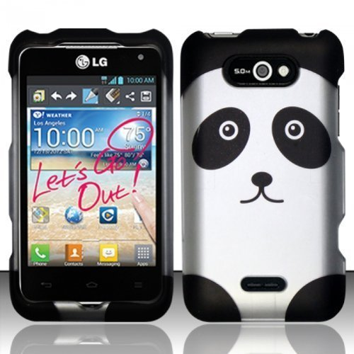 BY KSSHOPPING For LG Motion 4G MS770/P870 (MetroPCS) Rubberized Design Cover - Panda Bear (Lg Ms770 Cover compare prices)