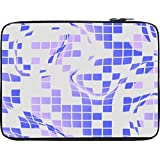 Snoogg Purple Checkered Pattern 2558 13 To 13.6 Inch Laptop Netbook Notebook Slipcase Sleeve