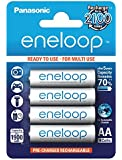 Panasonic BK-3MCCE/4BE Eneloop Mignon AA 1900 mAh Rechargeable Battery (Pack of 4)