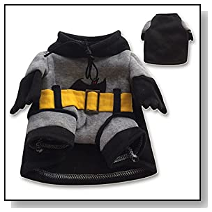 NACOCO Pet Clothes Pet Costume Superhero Costume Batman Costumes Dog Clothes (Medium)