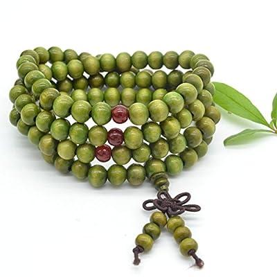 Yosoo 6mm Sandalwood 108 Buddhist Prayer Beads Hand Chain Mala Beads Bracelet Necklace