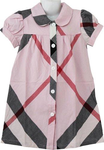 CD95 девушки платье розовый плед назад школьная…
