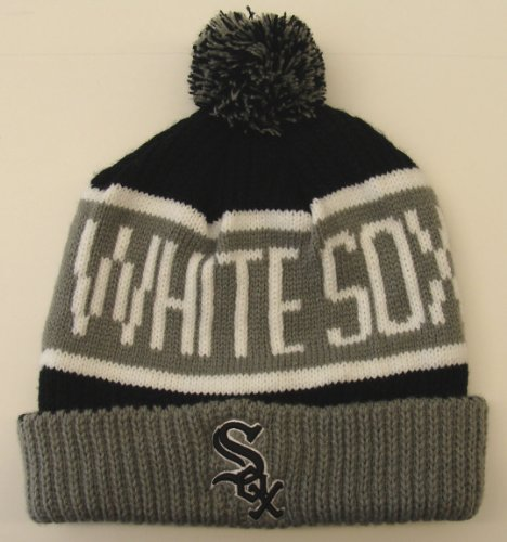 Chicago White Sox Embroidered 47 Calgary Pom Beanie Ski Cap at Amazon.com