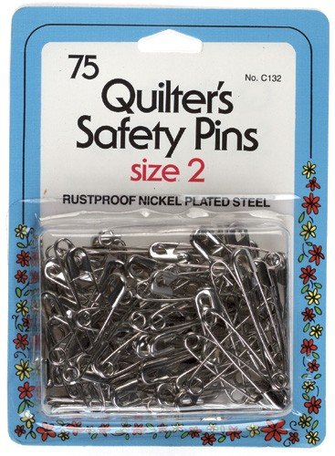 Quilt Safety Pin - Size 2 - 75 pieces