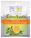 Aura Cacia Aromatherapy Foam Bath, Peaceful Patchouli And Sweet Orange, 2.5 Ounce Packet (Pack Of 3)