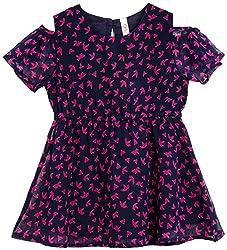 Oye Girls Dress - Navy/Pink (4-5Y)