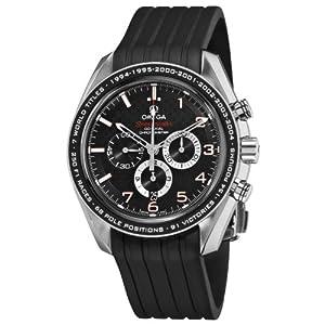 Omega Men's 32132445001001 Speedmaster Co-Axial Black Chronograh Dial Watch