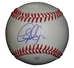 Baltimore Orioles Taylor Teagarden Autographed ROLB Baseball, Texas Rangers, Proof Photo