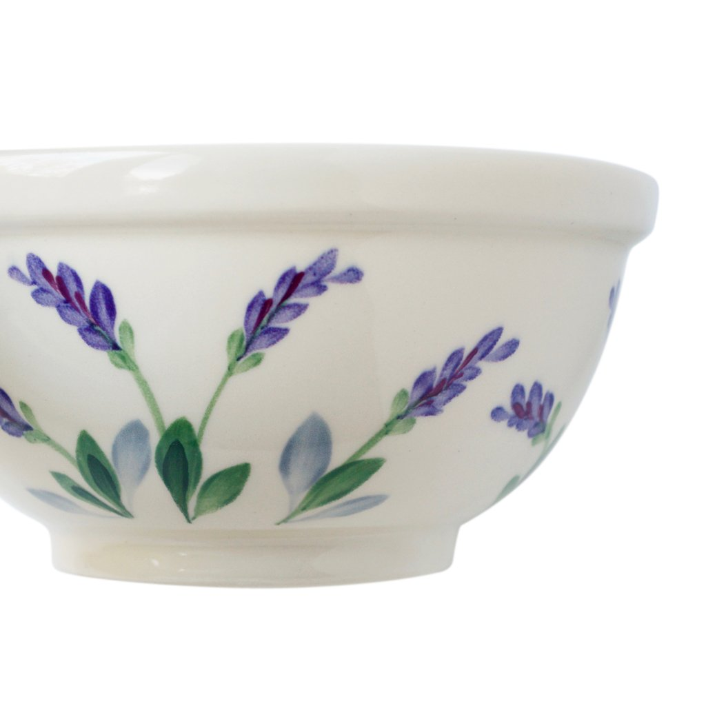 Ceramic Round Serving Bowl With Unique Decorative Lavender
