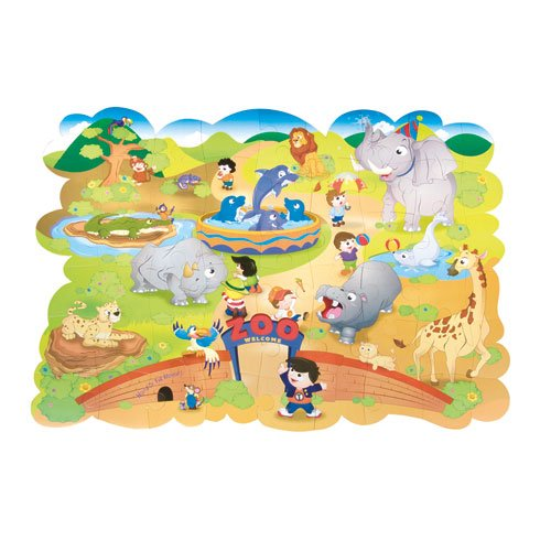 Cheap Fun Chenille Kraft® Giant Zoo Animals Floor Puzzle, Cardboard, 54 Pieces, 4 ft x 3 ft, Ages 3 and Up (B002XK5UHI)