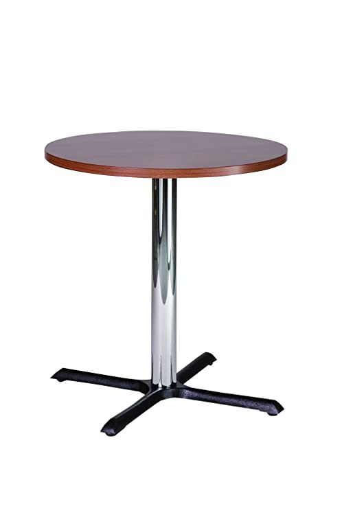 Roza noce 60cm Round Compact piccola cucina tavolo da pranzo base cromata