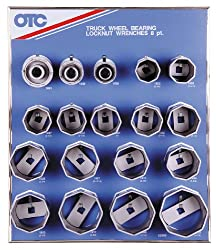 OTC 9851 18″ 8-Point Wheel Bearing Locknut Socket with Tool Board