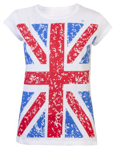 Womens T-Shirts Ladies Union Jack