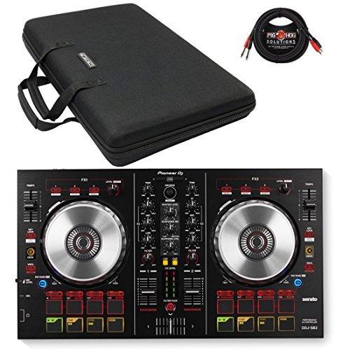 Pioneer DDJ-SB2 DJ Controller & Magma MGA47970 Control-Case XL w/ Pig Hog Cable - Bundle (Control Dj Pioneer compare prices)