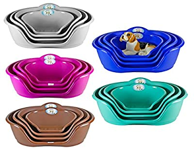 Heavy Duty Plastic Waterproof Pet Dog/Cat Bed Basket Available in 4 Sizes