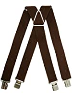 Heavy Duty Classic X-Shape Braces / Suspenders with Extra Strong Clips, 4cm - In Various Colours