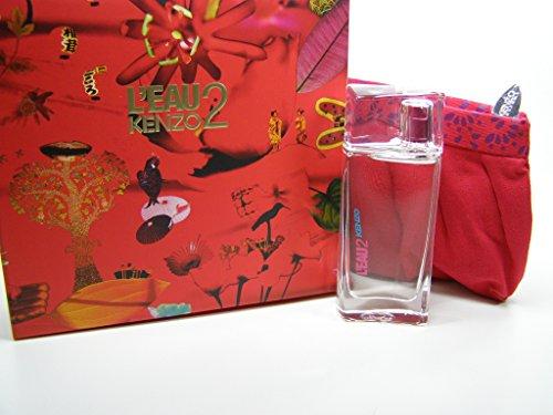 Kenzo L'Eau Kenzo 2 pour Femme Eau De Toilette Spray 50 ml + Make up Tasche