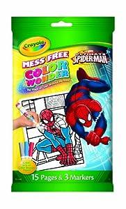 Amazon Crayola Color Wonder Spiderman Mini Coloring