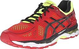 ASICS Men\'s Gel-Kayano 22 Running Shoe, Red Pepper/Black/Flash Yellow, 10 M US