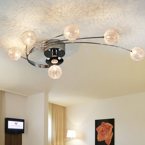 Lightinthebox® Pendant Light Luxury Modern Led Crystal Living Two Rings, Modern Chandelier Ceiling Light Fixture For Dining Room, Bedroom, Living Room, Bulb Included