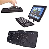 Cooper Cases(TM) Touchpad K5000 HP Slate 7 Extreme / 7 Plus / 7 VoiceTab Tablet Bluetooth Keyboard Dock with Touchpad in Black (US English QWERTY Keyboard, 64 Laptop-Style keys, Hidaway Kickstand for Hands-Free Display Support)