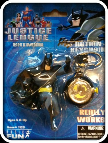 Picture of Basic Fun Superman Justice League Action Figure Keychain (B002VD8C2M) (Superman Action Figures)