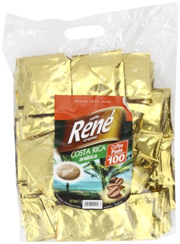 Shop for Café Rene Crème Costa Rica Coffee Pads (Pack of 1, Total 100 Coffee Pads) from GroceryCentre