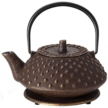 Hobnail Cast Iron Teapot and Trivet