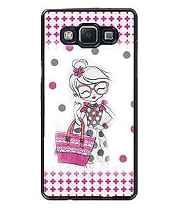 Fuson Shopping Girl Back Case Cover for SAMSUNG GALAXY A5 - D3927