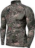 (テスラ)TESLA 長袖ハイネック スポーツシャツ [UVカット・吸汗速乾] コンプレッションウェア パワーストレッチ アンダーウェア