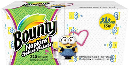 Bounty Bounty Napkins, Minion Prints – 220 ct
