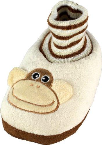 Buy Low Price Monkey Toddler Sock Top Animal Bootie Slippers 5/6-9/10 (B008LU82B0)