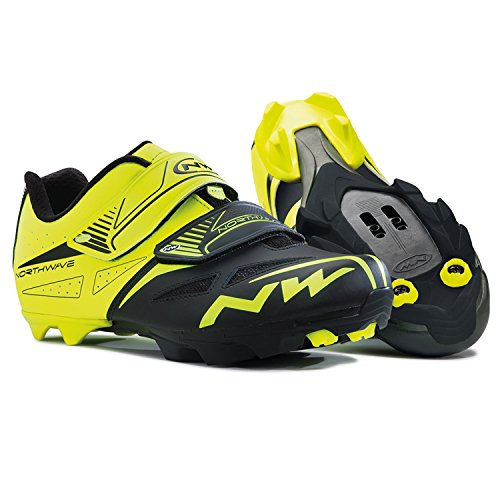 NORTHWAVE SPIKE EVO NERO GIALLO FLUO North wave 42
